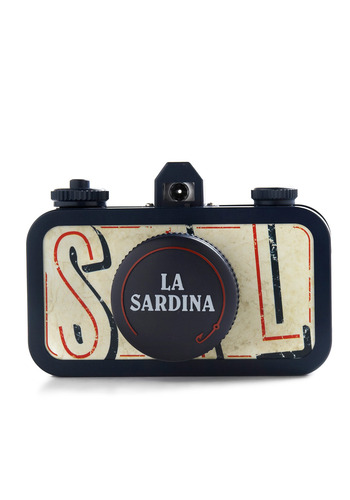 La Sardina Lomography Camera in Sea Pride - Black, Tan / Cream, Vintage Inspired, Handmade & DIY, Nautical