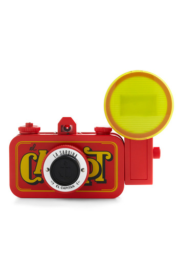 La Sardina Lomography Camera in El Capitan by Lomography - Red, Vintage Inspired, Handmade & DIY, Nautical