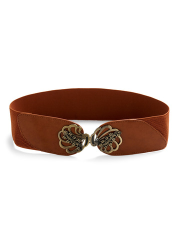 Just Fan-dy! Belt - Brown, Gold, Party, Casual