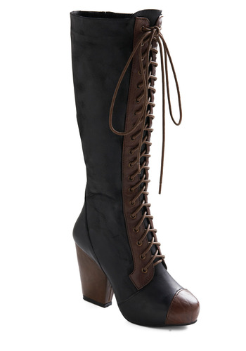 Victorian Is Thine Boot by Jeffrey Campbell - Black, Brown, Casual, Urban, Fall, Winter, Vintage Inspired, 20s
