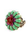Cabana Cutie Ring - Green, Red, Purple, Gold, Flower, Party, Casual, Statement