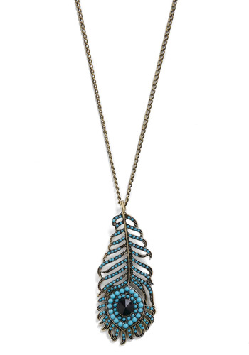 Style Sultana Necklace - Blue, Gold, Chain, Cutout, Rhinestones, Party, Casual