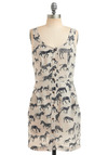 Like What You Zebra Dress - Cream, Black, Print with Animals, Novelty Print, Buttons, Pockets, Casual, Sheath / Shift, Tank top (2 thick straps), Spring, Summer, Short