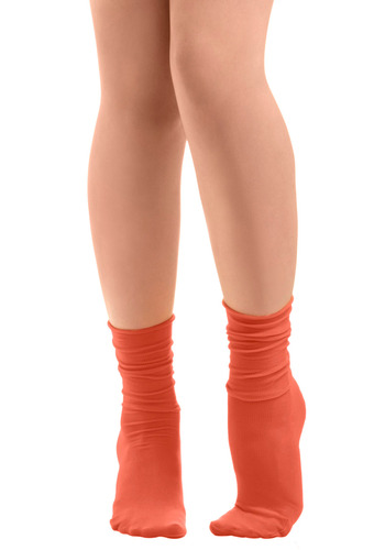 Sock About It in Call - Orange, Solid, Casual, Knitted
