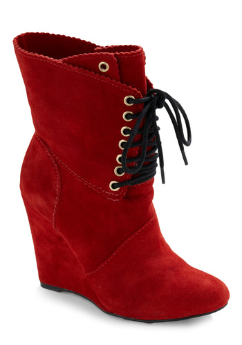 Betsey Johnson Bright Said Red Boot by Betsey Johnson - Red, Casual
