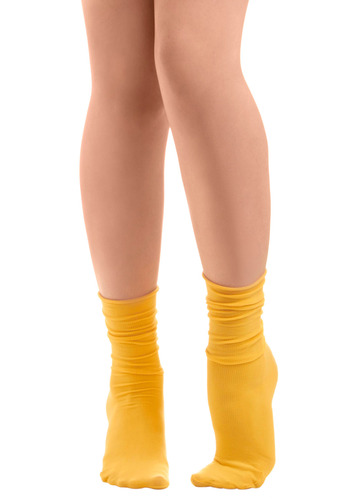 Sock About It in Tweet - Yellow, Solid, Casual, Knitted