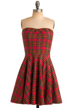 Betsey Johnson Pink Patch Simple Plaid-ition Dress