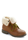 Logging Miles Boot in Brown - Tan, Casual, Winter, Low, Faux Leather, Faux Fur