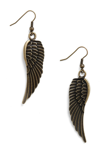 Just Wing Me Up Earrings - Gold, Casual, Boho, Summer, Fall