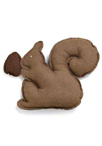 Squirrel Up and Get Cozy Pillow - Brown, Solid, Fall, Dorm Decor