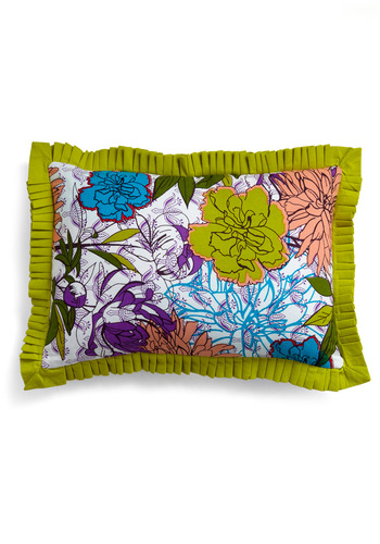 Blooms for your Room Pillow - Multi, Floral, Dorm Decor