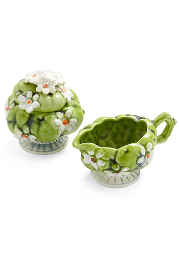 Vintage Leaf Room Cream and Sugar Set