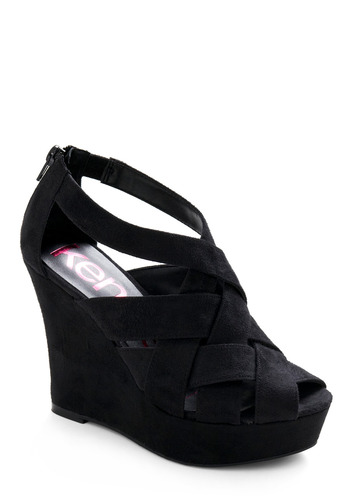 Wedge You Get It - Black, Solid, Cutout, Party, Spring, Fall, Wedge