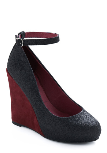 There Could Vino Other Wedge by Jeffrey Campbell - Red, Black, Wedge