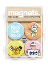 Here to Win-ston Magnets - Multi, Print with Animals, Casual, Kawaii