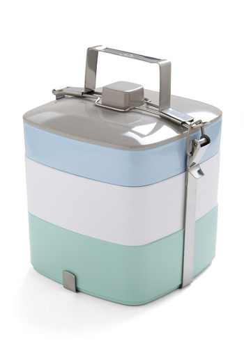 Tasty Trio Tiffin Box in Light Lunch - Blue, Work, Casual