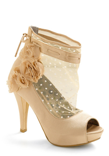 Breathtaking Bubbly Heel by Poetic License - Cream, Solid, Cutout, Flower, Lace, Formal, Prom, Wedding, Party, Spring, Summer, Fall, Show On Featured Sale