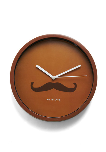 Bold-en Times Clock in Refined by Kikkerland - Brown, Menswear Inspired, Dorm Decor, Steampunk, Quirky