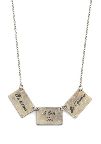 Love From All Around Necklace - Silver