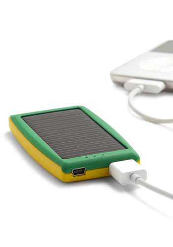 Sunny Is Power Solar Travel Charger - Green, Travel, Yellow, Eco-Friendly
