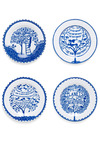 Living a Foodie-tale Plate Set - Blue, Fairytale, White, Better, Press Placement, Wedding