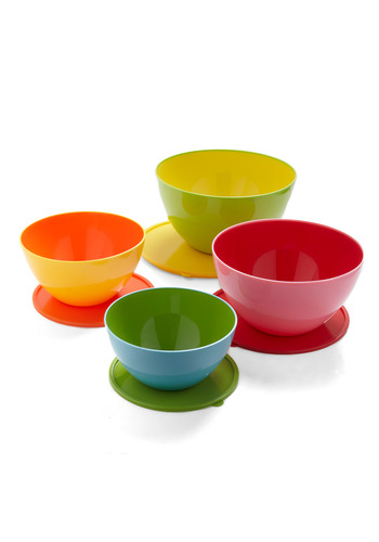 Bowled and Beautiful Mixing Bowl Set by Decor Craft Inc. - Multi, Orange, Yellow, Green, Blue, Pink, Good, Top Rated