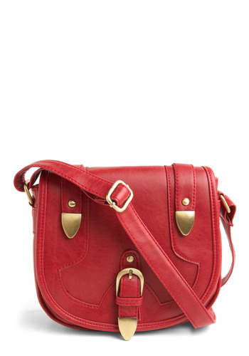 Never Sing the Blues Bag - Red, Solid, Buckles, Pockets