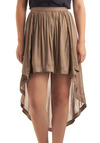 Rising to the Occasion Skirt - Tan, Solid, Casual, Summer, Fall, Short