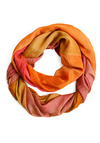 Infrared Letter Day Scarf - Orange, Pink, Casual, Spring, Summer, Fall