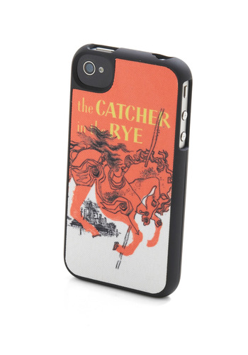 Give Me a Caul-field iPhone Case by Out of Print - Yellow, Novelty Print, Orange, Black, White