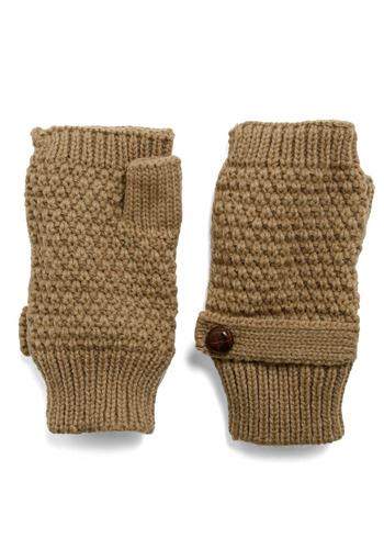 Ten Out of Ten Convertible Gloves n Taupe - Tan, Buttons, Casual, Fall, Winter