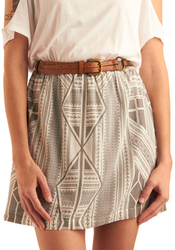 On Trendsetting Belt by Gentle Fawn - Brown, Gold, Buckles, Chain, Studs
