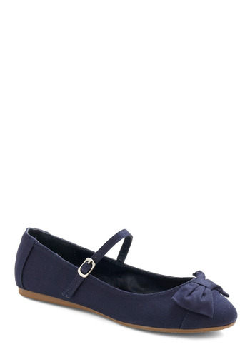 Avoir, Être, Faire Flat in Glamor - Blue, Bows, Party, Casual, Spring, Fall, Solid