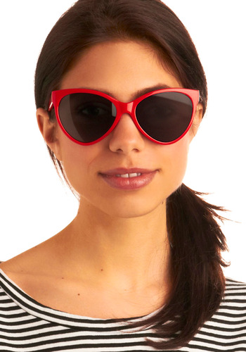 Where in the World Sunglasses - Red, Casual, Spring, Summer, Rockabilly