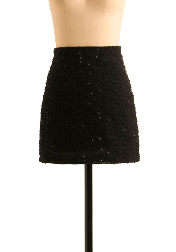 Spark Something New Skirt - Black, Sequins, Wedding, Party, 60s, Fall, Winter, Vintage Inspired, Mini, Short