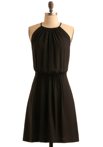 So Glad We Mesh Dress by Jack by BB Dakota - Black, Solid, A-line, Halter, Wedding, Party, Spring, Fall, Show On Featured Sale, Backless, Mid-length