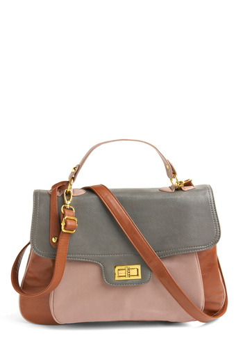 Handle It Satchel - Tan, Cream, Grey, Work