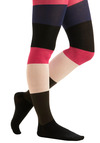 Betsey Johnson Colorblock With Confidence Tights by Betsey Johnson - Multi, Blue, Pink, Black, White, Stripes, Party, 80s, Fall, Winter, Knitted