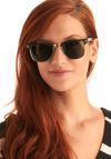 Gnocchi in Naples Sunglasses - Black, Gold, Casual, Vintage Inspired