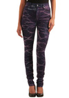"Cosmos-politan Jeans (34"") by Cheap Monday - Blue, Purple, White, Print, Pockets, Casual, Fall, Winter, Long, Press Placement"