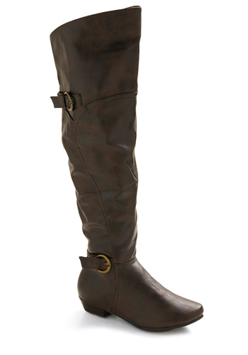 Tall About Town Boot - Brown, Solid, Buckles, Casual, Menswear Inspired, Fall, Winter