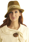 Hat to See You Go by Ophelie Hats - Brown, Party, Casual, Menswear Inspired, Vintage Inspired, 40s