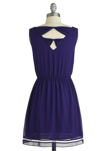 Fit for Royalty Dress - Purple, Trim, Party, Casual, A-line, Sleeveless, Spring, Summer, Fall, Solid, Show On Featured Sale, Mid-length