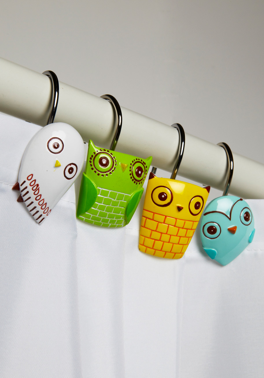 Owl Shower Curtain Rings