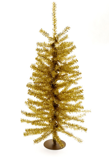 Good Shinings Mini Christmas Tree in Gold - Gold, Dorm Decor, Winter