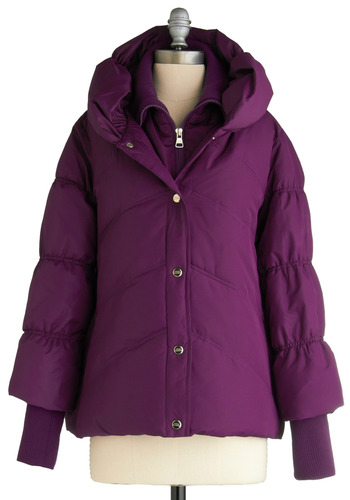 Plum to the Mountains Jacket - Purple, Solid, Long Sleeve, Casual, Fall, Winter, Buttons, Pockets, Mid-length, 4
