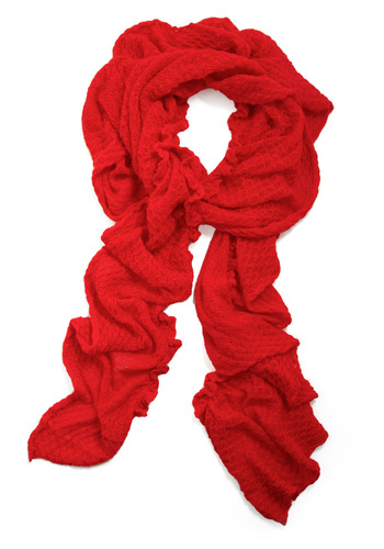 Go For It Scarf by Tulle Clothing - Red, Solid, Knitted, Party, Casual, Fall, Winter