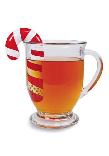 Cane You Join Me Tea Infuser - Red, White, Stripes, Winter