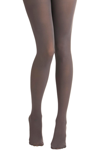 Tights for Every Occasion in Light Grey by Tabbisocks - Grey, Solid, Show On Featured Sale, Winter, Steampunk, Girls Night Out, Best Seller, Basic, Fall
