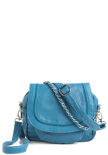 Sea for Yourself Bag in Crash - Blue, Solid, Chain, Party, Casual, Spring, Summer